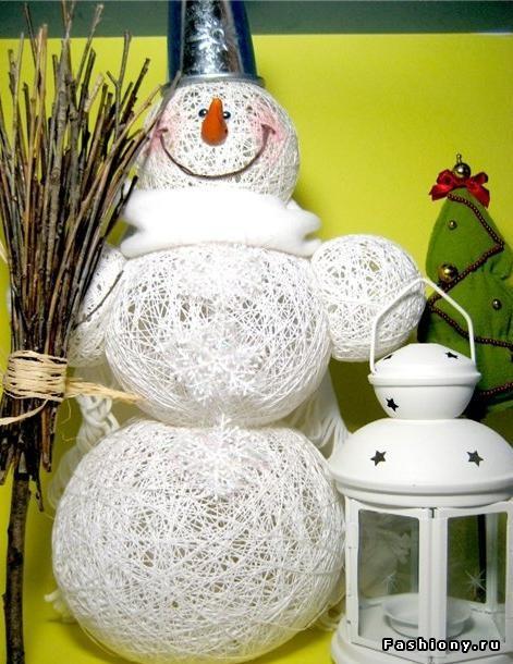Поделки снеговики из салфеток