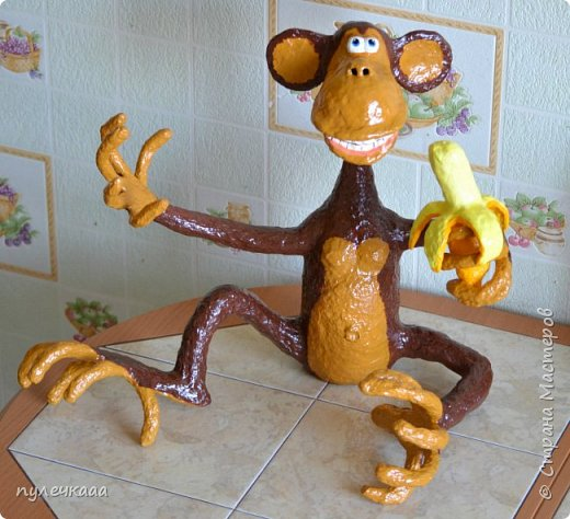 Цветок органзТрафарет обезьянки на новый год своими