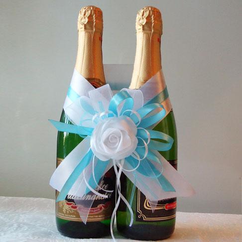 Украшение бутылки шампанского своими руками мастер класс