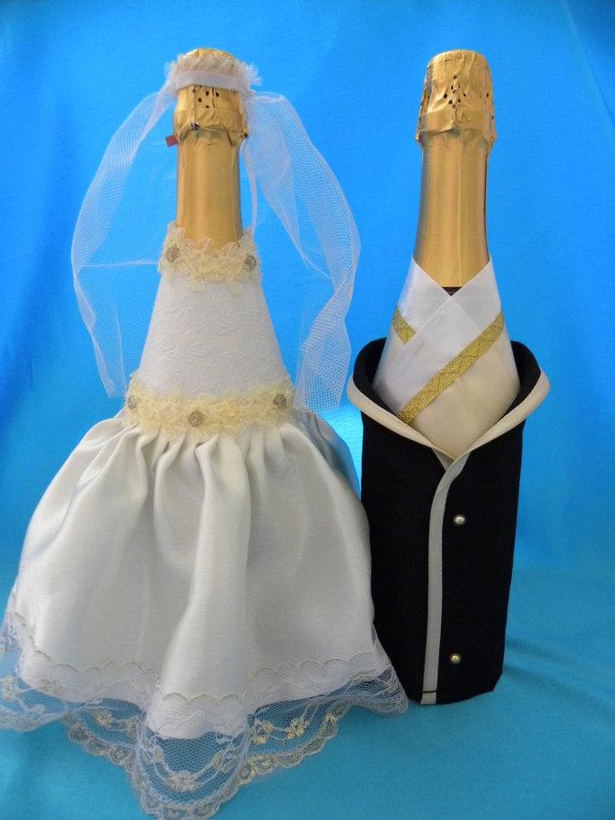 Украшение шампанского своими руками фото