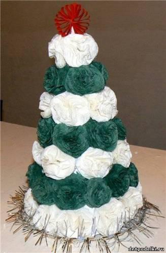 Новогодние елки из салфеток своими руками